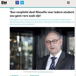 'Een verplicht deel filosofie voor iedere student zou geen rare zaak zijn' – Erasmus Magazine