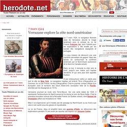 7 mars 1524 - Verrazane explore la côte nord-américaine - Herodote.net
