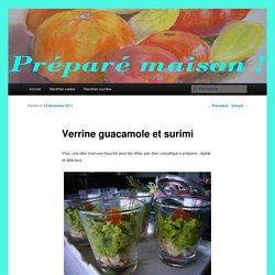 Verrine guacamole et surimi