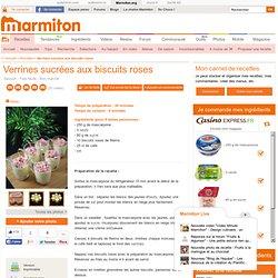 Verrines sucrées aux biscuits roses : Recette de Verrines sucrées aux biscuits roses