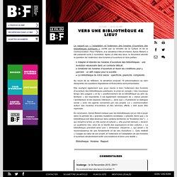 Vers une bibliothèque 4e lieu ?: Lerapport sur « l'adaptation et l'extension des horaires d'ouverture de... #BBF