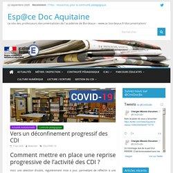 CDI & déconfinement _ Aca de Bordeaux