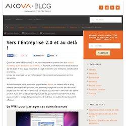 Vers l'Entreprise 2.0 et au delà !