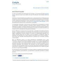 Vers la fin de l'actualité « Cratyle.net