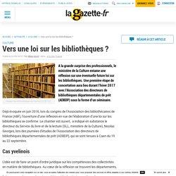 Vers une loi sur les bibliothèques ?