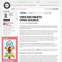 Vers des objets open-source » Article » OWNI, Digital Journalism