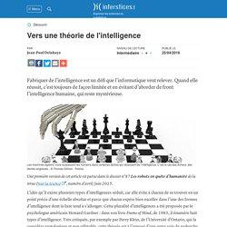 Vers une théorie de l'intelligence