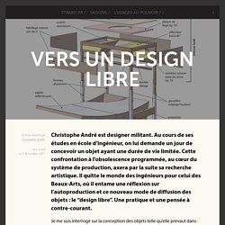 Vers un design libre -