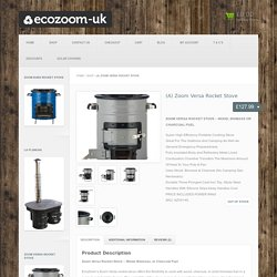 (A) Zoom Versa Rocket Stove : EcoZoom-UK store