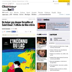 Un baiser gay choque Versailles et Saint-Cloud: l'affiche du film retirée