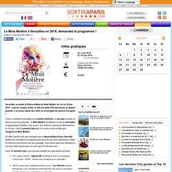 Le Mois Molière à Versailles en 2016, demandez le programme !