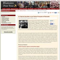 Le Traité de Versailles vu par l'Action Française et l'Humanité