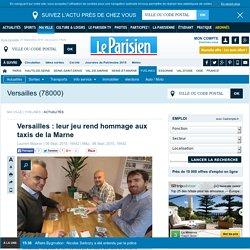 Versailles : leur jeu rend hommage aux taxis de la Marne