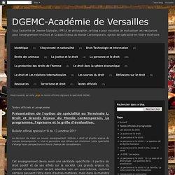 DGEMC-Académie de Versailles: Textes officiels et programme