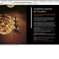 Académie équestre de Versailles / présentation