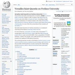 Versailles Saint-Quentin-en-Yvelines University - Wikipedia