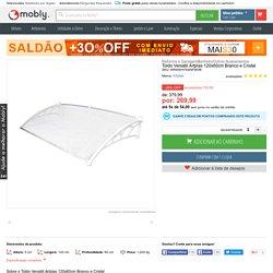 Toldo Versátil Artplas 120x60cm Branco e Cristal