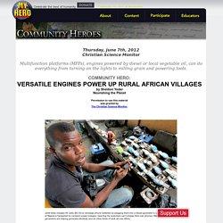 Versatile engines power up rural African villages