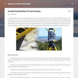 Versatile Functionalities Of Land Surveying