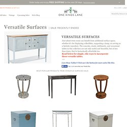 Versatile Surfaces