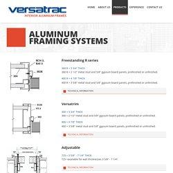 Versatrac - Interior Aluminum Frames