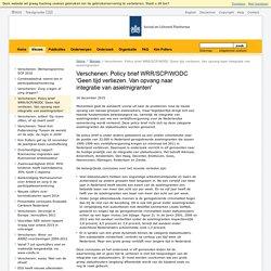 Verschenen: Policy brief WRR/SCP/WODC 'Geen tijd verliezen. Van opvang naar integratie van asielmigranten'