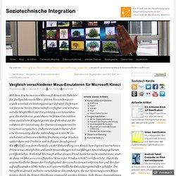 Vergleich verschiedener Maus-Emulatoren für Microsoft Kinect | Soziotechnische Integration