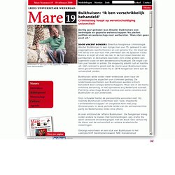 MARE: Buikhuisen: 'Ik ben verschrikkelijk behandeld' - HOOFDARTIKEL