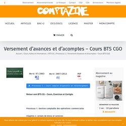 Versement d'avances et d'acomptes - Cours BTS CGO
