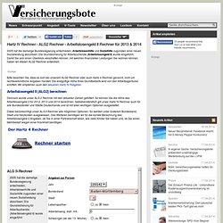 Hartz 4 Rechner - Arbeitslosengeld II Rechner - ALG2 Rechner - Hartz IV Rechner