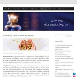 3 versículos sobre la bendición de Dios. Respuestas a la oración de fe