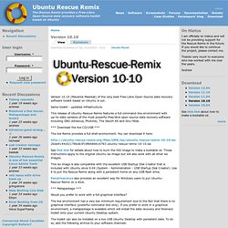 Version 10.10 | Ubuntu Rescue Remix