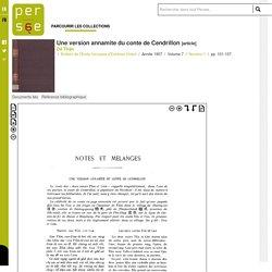 Une version annamite du conte de Cendrillon - persee.fr