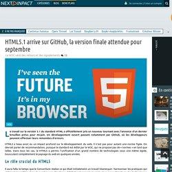 04/2016 HTML5.1 arrive sur GitHub, la version finale attendue pour septembre
