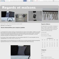 Version Automne/Hiver pour canapé en palettes - Regards et Maisons