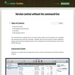 Version control without the command line