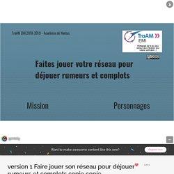 version 1 Faire jouer son réseau pour déjouer rumeurs et complots copie copie by mdlmp7 on Genial.ly