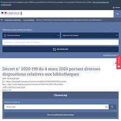 JORF n°0055 du 5 mars 2020 - Version initiale - Légifrance