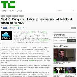 Next10: Tariq Krim talks up new version of Jolicloud based on HT