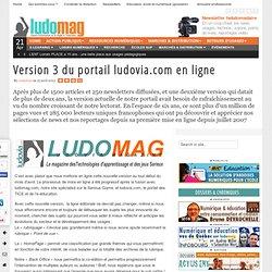 Version 3 du portail ludovia.com en ligne