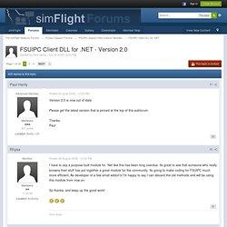 FSUIPC Client DLL for .NET - Version 2.0 - The simFlight Network Forums
