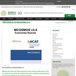 Nueva versión del software MCosmos (V3.5)