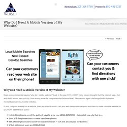 Here We Discribe, Why Do You Need A Mobile Version Website?