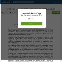 Jorge Luis Borges, Tres Versiones de Judas, análisis