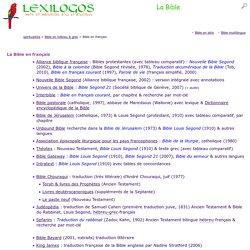 Bible en ligne : toutes les versions en français LEXILOGOS