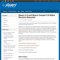 3.0 and jQuery Compat 3.0 Alpha Versions Released