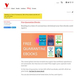 Free ebooks from Verso during quarantine