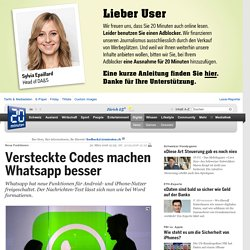 Versteckte Codes machen Whatsapp besser