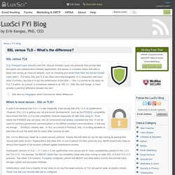 SSL versus TLS - What's the difference? - HIPAA News, Web & Email Security Tips & News - Plus More