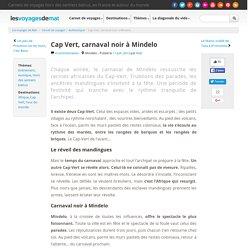 Cap Vert, carnaval noir à Mindelo